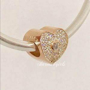 Authentic Pandora sweetheart charm rose gold